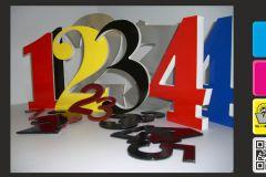 3D-Buchstaben und Zahlen